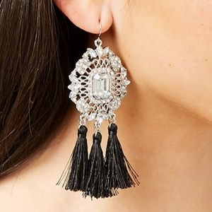 BRAND NEW Tassel Cluster Gem Drop Earrings